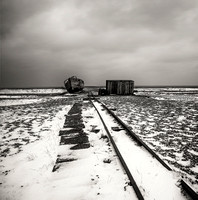 Dungeness, Snow, Fine Art, Mono, Boat, Shed