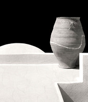 Santorini, Pot, mono, Fine Art, Photographic Print